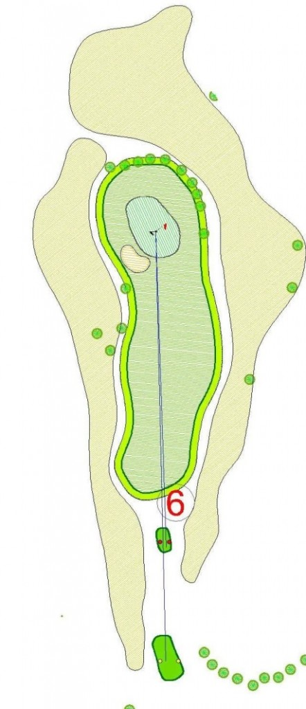 hole 6 par 3 golf club Lambrghini